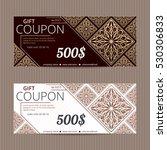 gift voucher in luxury style.... | Shutterstock .eps vector #530306833