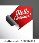 christmas paper corner cut out... | Shutterstock .eps vector #530307394