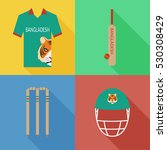 bangladesh cricket icons in... | Shutterstock .eps vector #530308429