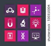 science  laboratory study icons ...
