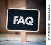 faq   signboard with text faq... | Shutterstock . vector #530311378