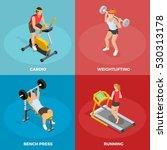 gym sport isometric concept... | Shutterstock .eps vector #530313178