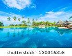 beautiful luxury umbrella and... | Shutterstock . vector #530316358