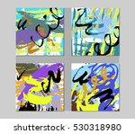 set of stylish fun invitation... | Shutterstock .eps vector #530318980