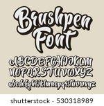 Brushpen Comic Lettering Font....