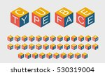 cube typeface. vector volume... | Shutterstock .eps vector #530319004