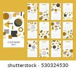 calendar for 2017 year. vector...   Shutterstock .eps vector #530324530