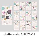 calendar for 2017 year. vector... | Shutterstock .eps vector #530324554
