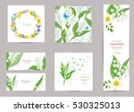 collection of greeting cards... | Shutterstock .eps vector #530325013