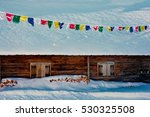 Hut In The Snow With Prayer...