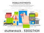 flat design concepts for mobile ... | Shutterstock .eps vector #530327434