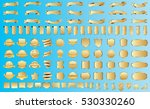 label ribbon banner gold vector ... | Shutterstock .eps vector #530330260