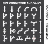 vector icon of steel pipe... | Shutterstock .eps vector #530330929