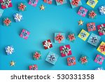 happy birthday and gift box on... | Shutterstock . vector #530331358