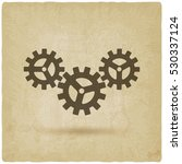 gear connected symbol....   Shutterstock . vector #530337124
