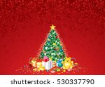 decorated christmas tree vector | Shutterstock .eps vector #530337790