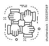 collaboration vector icon | Shutterstock .eps vector #530339569