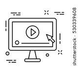 multimedia vector icon | Shutterstock .eps vector #530339608