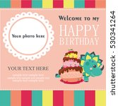 happy birthday card design.... | Shutterstock .eps vector #530341264