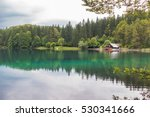 beautiful lake landscape at... | Shutterstock . vector #530341666