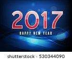 happy new year 2017 | Shutterstock .eps vector #530344090
