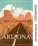 Arizona Vector American Poster. ...