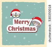 cute christmas greeting with... | Shutterstock .eps vector #530350018