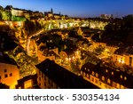 luxembourg city sunset top view ... | Shutterstock . vector #530354134