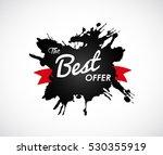the best offer sign on black...   Shutterstock .eps vector #530355919