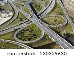 aerial view of interchange... | Shutterstock . vector #530359630