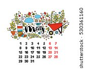 may. 2017. calendar. isolated... | Shutterstock .eps vector #530361160