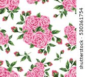 seamless pattern with pink... | Shutterstock . vector #530361754
