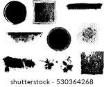 grunge design elements . brush... | Shutterstock .eps vector #530364268