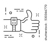 thumbs up vector icon | Shutterstock .eps vector #530366770
