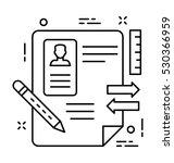 resume vector icon | Shutterstock .eps vector #530366959