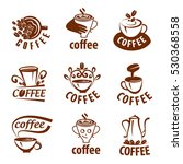 coffee labels with sample text. ... | Shutterstock .eps vector #530368558