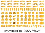banner ribbon label yellow... | Shutterstock .eps vector #530370604
