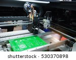 microchip production factory.... | Shutterstock . vector #530370898