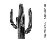 mexican cactus icon in black... | Shutterstock .eps vector #530383450