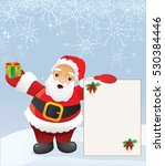 santa claus with message | Shutterstock .eps vector #530384446