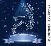 christmas reindeer | Shutterstock .eps vector #530384473