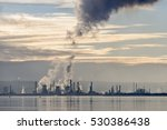 steam and smoke emissions from...   Shutterstock . vector #530386438