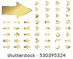 arrow vector gold curve line up ... | Shutterstock .eps vector #530395324