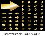 arrow vector gold curve line up ... | Shutterstock .eps vector #530395384