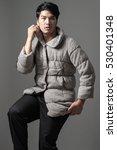 portrait of asian man in gray... | Shutterstock . vector #530401348