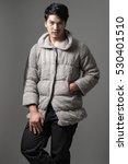 portrait of asian man in gray... | Shutterstock . vector #530401510