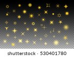 sparkle set with stars  flashes ... | Shutterstock .eps vector #530401780