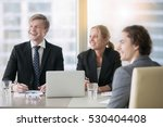 group of three business... | Shutterstock . vector #530404408
