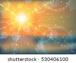 abstract orange winter sunset... | Shutterstock .eps vector #530406100