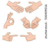 set of vector cartoon hands... | Shutterstock .eps vector #530409016